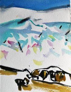 Arctic-8-Sketch-8.5x6.5-Watercolour-Conte-2001-233x300