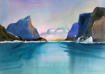 Baffin-Fjord-1-22-x-30-Watercolour-2002-400x284