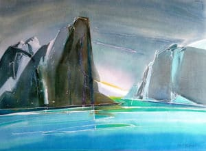Baffin-Fjord-3-22x30-Watercolour-2002-300x221