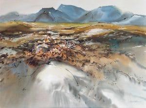 Change-Islands-Newfoundland-17-22x30-Watercolour-Ink-1990-300x222