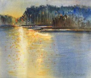 Evening-Light-11x13-Watercolour-2012-300x258