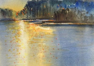 Evening-Light-11x13-Watercolour-2012-400x284