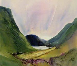 Glencoe-2-22x26-Watercolour-Ink-Conte-2011-300x256