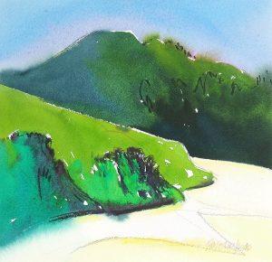 Haliburton-Shore-4-11.5x11.5-Watercolour-Graphite-1994-300x290