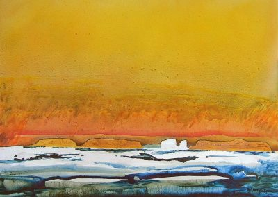 High-Arctic-Series-07-Sea-Ice-Yellow-Sky-36x48-acrylic-on-canvas-400x284