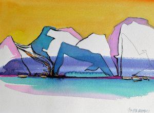 Icebergs-11x15-Watercolour-Ink-2002-300x221