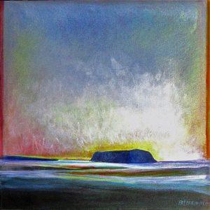 Island-1-South-East-Coast-Ellesmere-Island-36x35-Acrylic-on-Linen-2013-300x300
