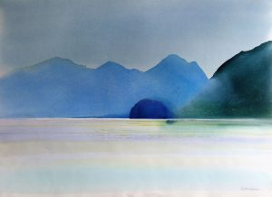 Jervis-Inlet-B.C.-3-22x30-Watercolour-1986-300x218