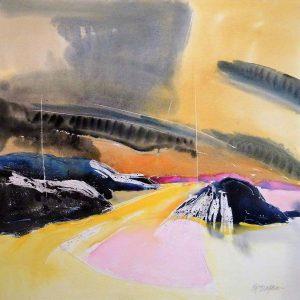 Labrador-19-30x30-Watercolour-Wax-Graphite-1998-300x300