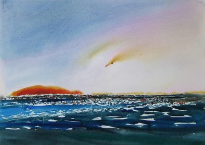 Light-Show-on-a-Devon-Bay-22x30-watercolour-2009-400x284