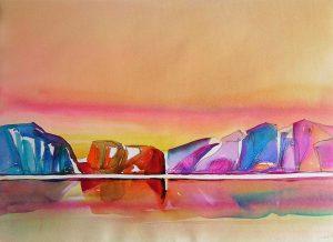 Merchants-Bay-6-Baffin-Bay-22-x-30-Watercolour-Conte-1999-300x218