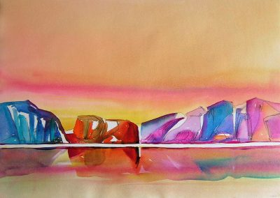 Merchants-Bay-6-Baffin-Bay-22-x-30-Watercolour-Conte-1999-400x284