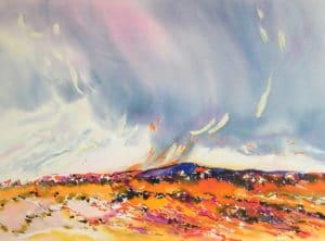 Namibia-Approaching-Rain-22x30-Watercolour-1992-300x222