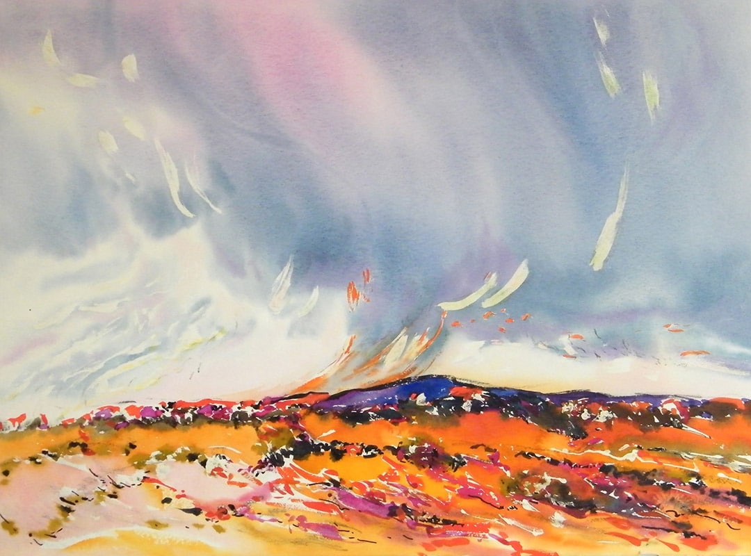 Namibia-Approaching-Rain-22x30-Watercolour-1992