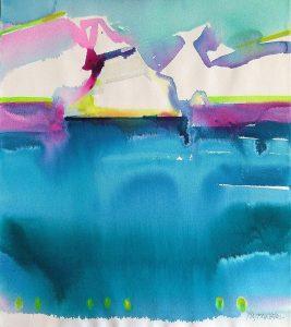 Neon-Sea-26x22-Watercolour-2001-267x300