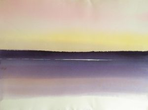Northern-Lake-1-of-3-Multiple-22x30-Watercolour-1978-300x223