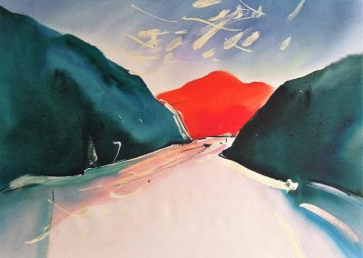 Sechelt-Inlet-B.C.1-22x30-Watercolour-Ink-1986-400x284
