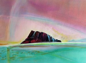 Solitary-Isle-1-Lancaster-Sound-22-x-30-Watercolour-2000-300x218