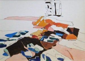 Spring-Breakup-Mortimers-Point-Muskoka-8x11-Watercolour-Ink-1960-300x213