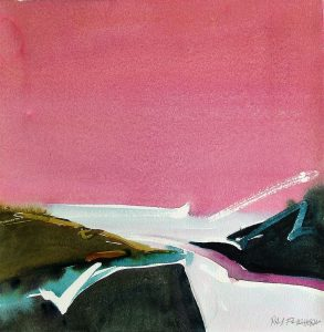 To-the-Sea-Pink-Sy-11x14-Watercolour-1985-293x300