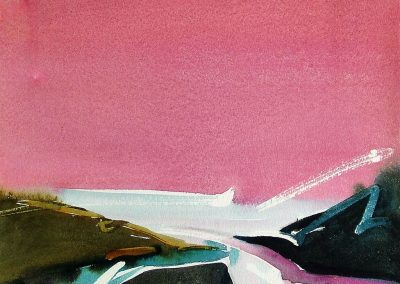 To-the-Sea-Pink-Sy-11x14-Watercolour-1985-400x284