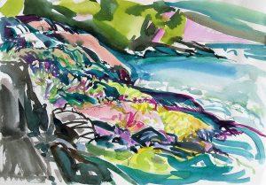 Vieues-Puerto-Rico-7-8.5x12-Watercolour-Graphite-Ink-1987-300x209