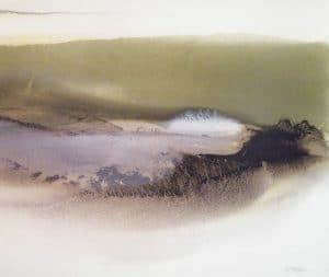 Light-on-the-Pond-1-26x30-Watercolour-Ink-1979-MIXED-300x253