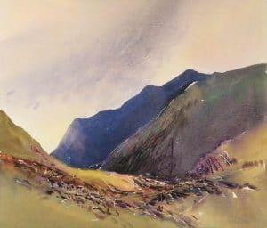 Glencoe-3-22x26-Watercolour-Conte-2011-300x256